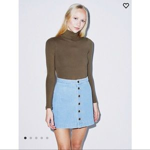 Light-wash Jean Skirt from American Apparel - L